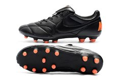 Imagem do Chuteira Nike Premier 2.0 Couro Campo Original Black and Orange