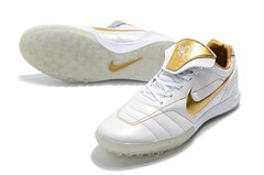 Chuteira Society Nike Tiempo Legend 7 R10 Elite TF Edition Limited White Gold - loja online