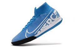 Chuteira Nike Mercurial Superfly 7 Elite Futsal Blue Original - Sport Shoes