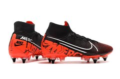 Chuteira Nike Mercurial Superfly 7 Elite SG-PRO Preto/Laranja Original - Sport Shoes