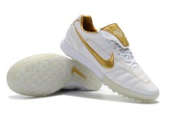 Chuteira Society Nike Tiempo Legend 7 R10 Elite TF Edition Limited White Gold - Sport Shoes