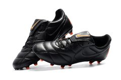 Chuteira Nike Premier 2.0 Couro Campo Original Black and Orange - comprar online