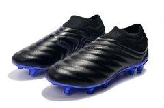 e79d3a832c231 Chuteira Adidas Copa 19.0 Black Blue Campo Original Couro Bolsa + Par de  Meião de Brinde. 50% OFF