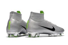 Chuteira Nike Mercurial Superfly 360 Elite Campo Original Silver World Cup 2002 - Sport Shoes