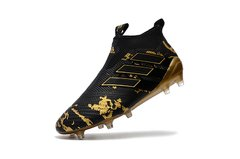 Chuteira Adidas Ace 17 Control Campo Original Black Gold Pogba - Sport Shoes