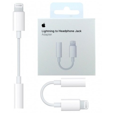 Adaptador de Audio Lightning  3.5mm  original da Apple