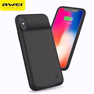 Capa Carregadora Para Apple Iphone X / Xs Power Bank Awei B1 3200mah - Preto