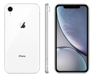 "iPhone XR Apple 64GB Branco 4G Tela 6,1"" Retina - Câmera 12MP + Selfie 7MP iOS 12 Proc. Chip A12"