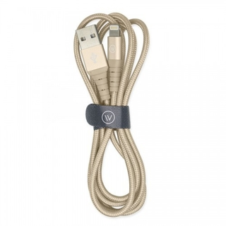 Cabo MFI lightning iWill Hard Cable Silver Nylon - Maxphone