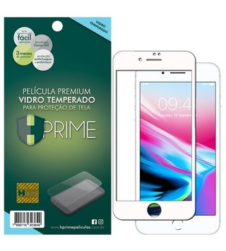 Película Vidro Temperado Premium HPrime Apple iPhone - ColorGlass 6D (Cobre 100% a tela)
