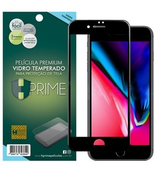 Película Vidro Temperado Premium HPrime Apple iPhone - ColorGlass 6D (Cobre 100% a tela) - Maxphone
