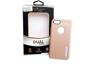 Case Guardian Dual Anti Impacto Iphone 7/8 Vermelha/ Dourado