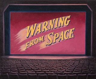 Hernan Salvo.                          Warning from Space, 40x50cm.