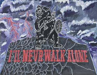 Santiago Martinez. Never Walk Alone, 80 x 100 cm