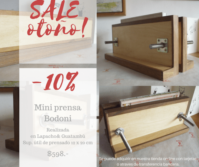 SALE OTOÑO! 10% OFF ·MINI PRENSA BODONI·