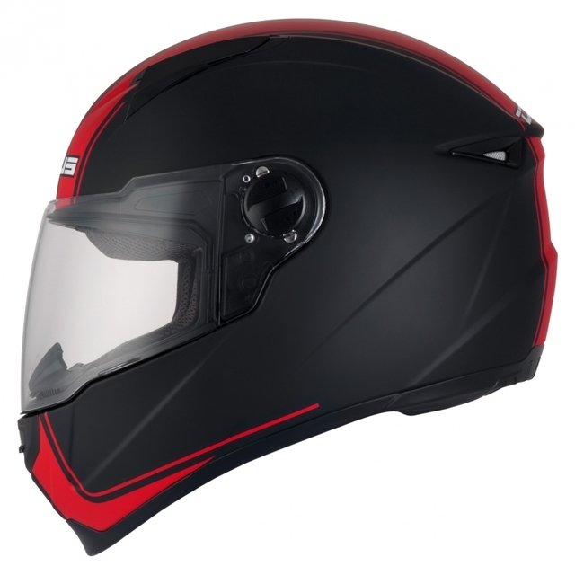 CAPACETE ZEUS 811 MATT BLACK/J17 RED