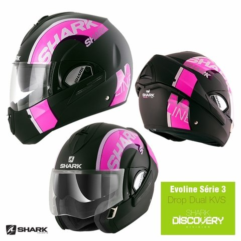CAPACETE SHARK EVOLINE SERIE 3 DROP DUAL TOUCH KVS - Mec Motos Shop