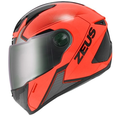 II CAPACETE ZEUS 811 FLUOR ORANGE AL6 BLACK