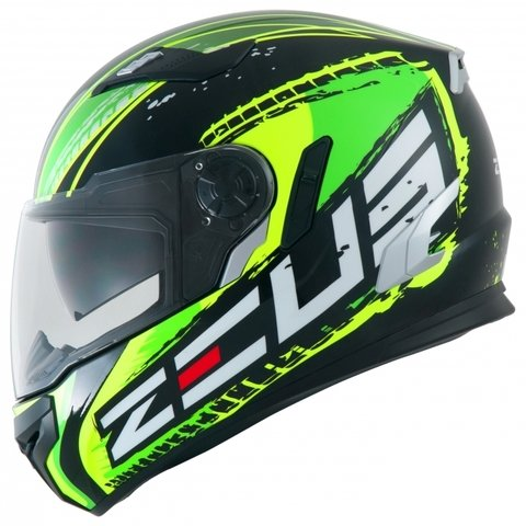 IIII CAPACETE ZEUS 813 AN13 SOLID BLACK/GREEN