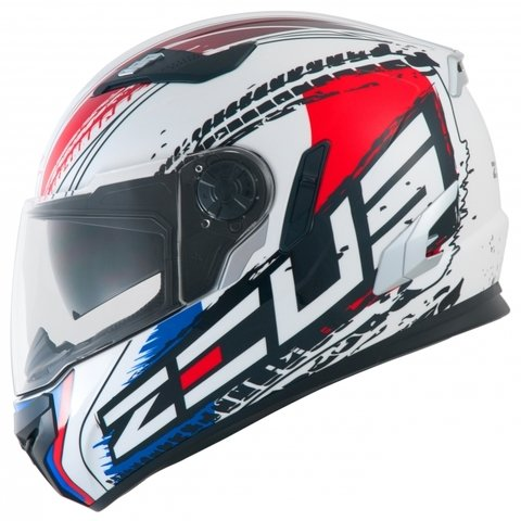 IIIIIII CAPACETE ZEUS 813 AN13 SOLID WHITE/RED