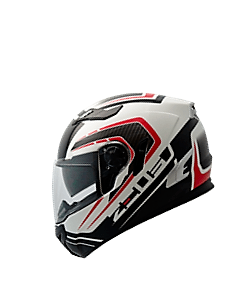 CAPACETE ZEUS 813 AN 15 SOLID - WHITE. WHITE RED