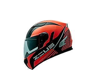 CAPACETE ZEUS 813 FLUOR ORANGE AN 9 BLACK