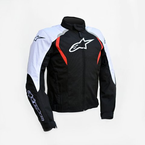 JAQUETA ALPINESTARS ALUX WP - BLACK - WHITE - RED