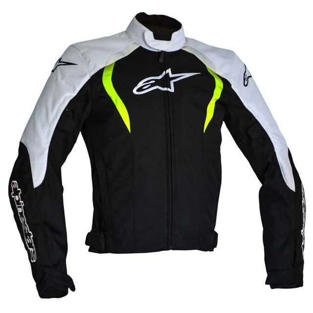 JAQUETA ALPINESTARS ALUX WP - BLACK - WHITE - YELLOW FLUO