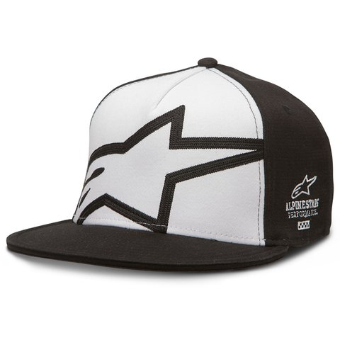 BONÉ ALPINESTARS HOLESHOT - BLACK - WHITE