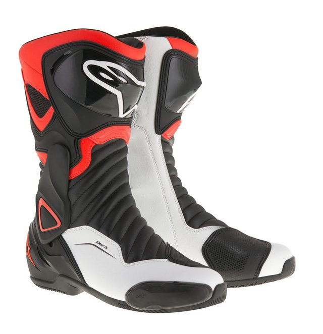 BOTA ALPINESTARS SMX - 6 V² - BLACK - RED FLUO - WHITE