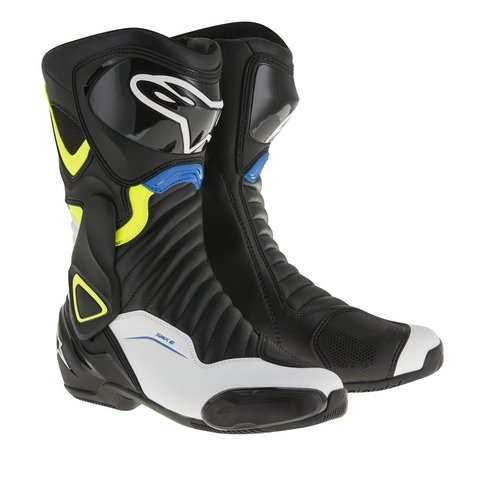 BOTA ALPINESTARS SMX-6 V² - BLACK - WHITE - YELLOW FLUO - BLUE