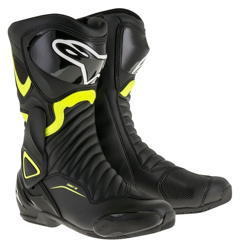 BOTA ALPINESTARS SMX - 6 V² - BLACK - YELLOW FLUO