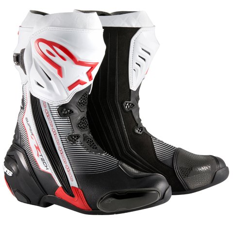 BOTAS ALPINESTARS SUPERTECH R - BLACK - RED - WHITE