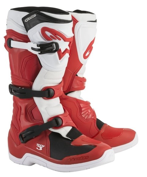 BOTA ALPINESTARS TECH 3 OFF ROAD - RED WHITE