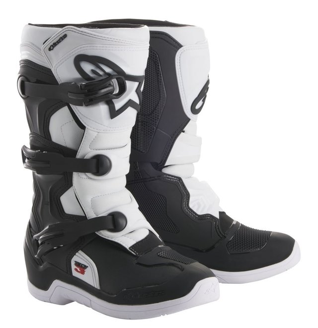 BOTA ALPINESTARS TECH 3 S INFANTIL OFF ROAD - BLACK WHITE