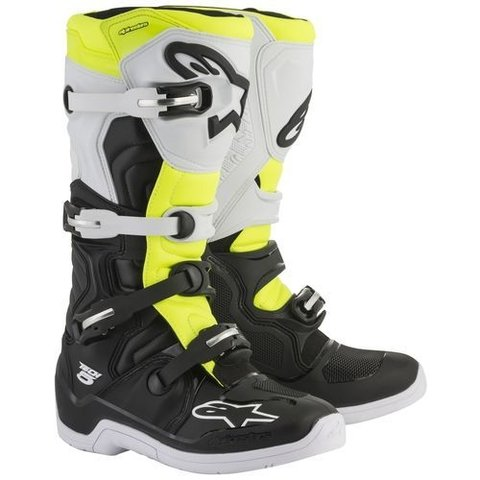 BOTA ALPINESTARS TECH 5 OFF ROAD - BLACK WHITE YELLOW FLUO