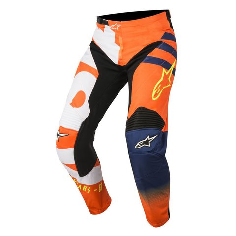CALÇA ALPINESTARS RACER BRAAP 18 OFF ROAD - SAND COOL GRAY RED FLUO