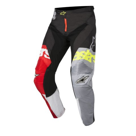 CALÇA ALPINESTARS RACER FLAGSHIP 18 OFF ROAD - RED WHITE BLACK