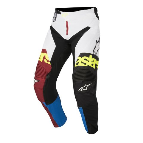 CALÇA ALPINESTARS RACER FLAGSHIP 18 OFF ROAD - RIO RED AQUA WHITE