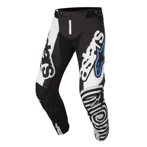 CALÇA ALPINESTARS TECHSTAR VENON 18 OFF ROAD - BLACK WHITE AQUA