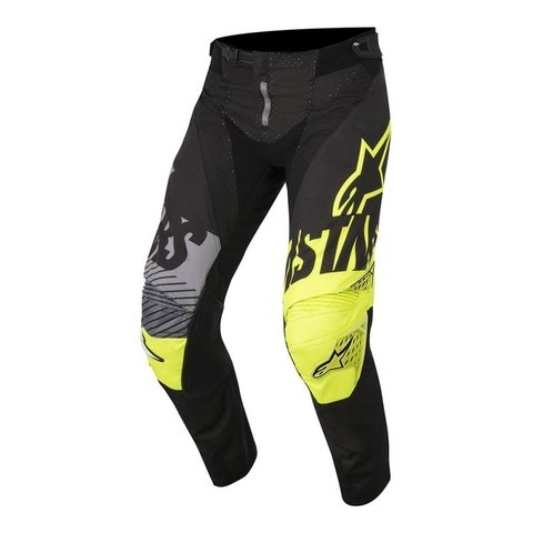 CALÇA ALPINESTARS YOUTH RACER SCREAMER 18 OFF ROAD - BLACK YELLOW FLUO GRAY