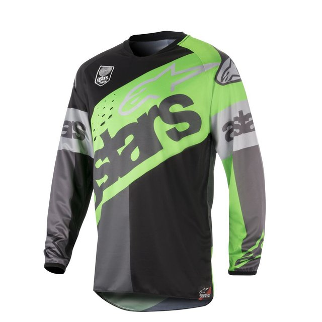 CAMISA ALPINESTARS RACER FLAGSHIP 18 OFF ROAD - GREEN FLUO ANTHRACITE BLACK