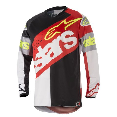 CAMISA ALPINESTARS RACER FLAGSHIP 18 OFF ROAD - RED WHITE BLACK