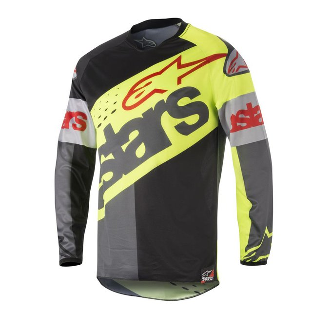 CAMISA ALPINESTARS RACER FLAGSHIP 18 OFF ROAD - YELLOW FLUO BLACK ANTHRACITE