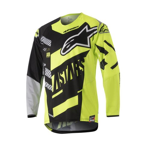 CAMISA ALPINESTARS TECHSTAR SCREAMER 18 OFF ROAD - BLACK YELOOW FLUO GRAY
