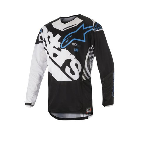 CAMISA ALPINESTARS TECHSTAR VENON 18 OFF ROAD - BLACK WHITE AQUA