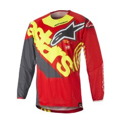 CAMISA ALPINESTARS TECHSTAR VENON 18 OFF ROAD - RED YELLOW FLUO ANTHRACITE