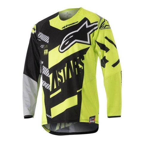 CAMISA ALPINESTARS YOUTH RACER SCREAMER 18 OFF ROAD -  BLACK YELLOW FLUO GRAY