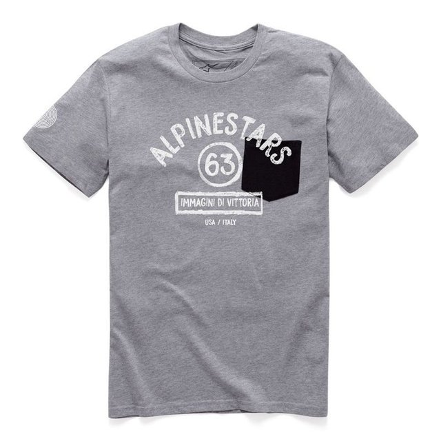 CAMISETA ALPINESTARS PAINT PREMIUM - GREY HEATHER