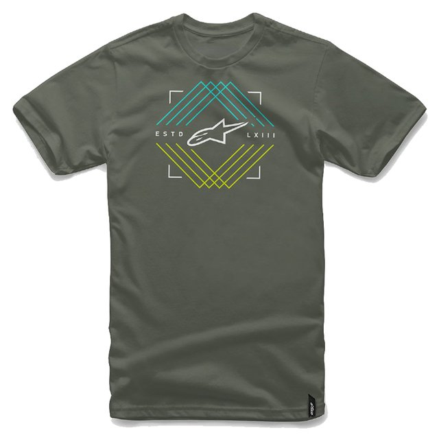 CAMISETA ALPINESTARS PEAKS - MILITARY GREEN
